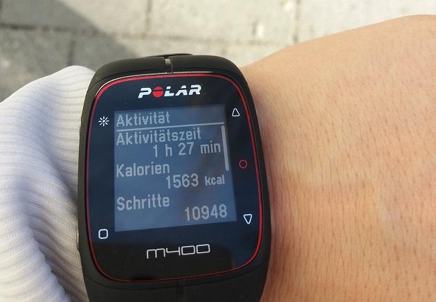 Laufen mit Polar Uhr